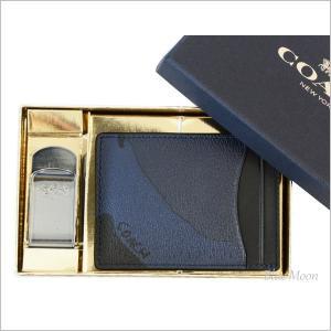 コーチ カードケース COACH メンズ マネークリップ アウトレット ブルーカモフラージュ 迷彩柄 箱付 F22532 DYB|basilshop