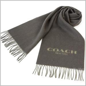 コーチ COACH マフラー メンズ ウールマフラー バイカラー ロゴ アウトレット グリーン系 F86542 MGR|basilshop