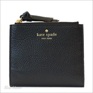 ケイトスペード 財布 KATE SPADE 二つ折り財布 レディース アウトレット ブラック WLRU3075|basilshop