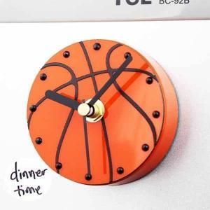 バスケットボール型のマグネット時計