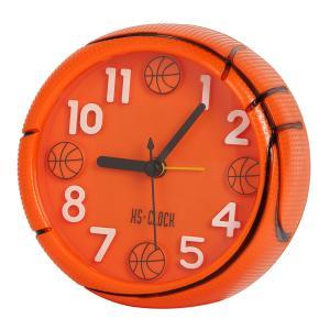 バスケットボール型のコンパクト目覚まし時計(小さな汚れ等あり)