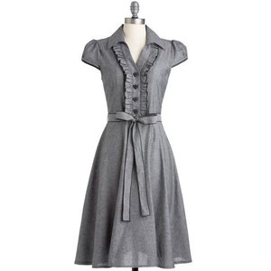 hl0050 Aラインドレス ワンピース グレー  結婚式・...