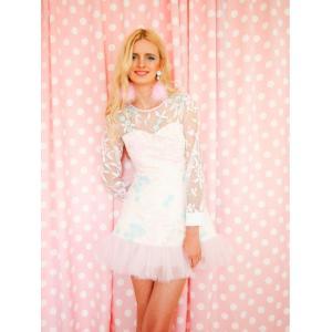 2dd616131fe23 ... 花柄ワンピース 可愛い ドレス ガーリーファッション レディース通販 シフォン ハンドメイド LOVE ME TENDER タイ