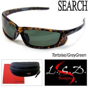 ●LSDデザイン 偏光サングラス サーチ 002-09(Tortoise/GreyGreen) 【ま...