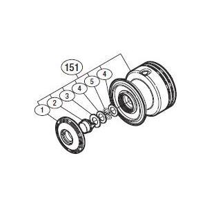 ●シマノ 10 アオリスタCI4 C3000 (02723)用 純正標準スプール (パーツ品番105...