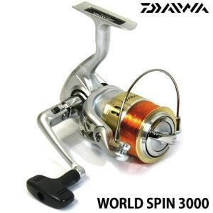 ダイワ 13 ワールドスピン 3000 4号糸(ライン)150m付きスピニングリール 【まとめ送料割】|bass-infinity