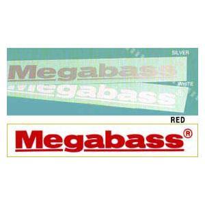 ●メガバス Megabassカッティングステッカー SS(10cm) 【メール便配送可】 【まとめ送料割】 bass-infinity