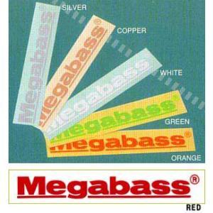●メガバス Megabassカッティングステッカー S(20cm) 【メール便配送可】 【まとめ送料割】 bass-infinity