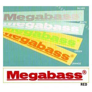 ●メガバス Megabassカッティングステッカー M(30cm) 【メール便配送可】 【まとめ送料割】 bass-infinity