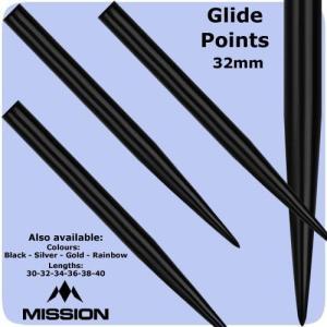 Mission グライド ポイント ブラック Glide Points Black|bat-store