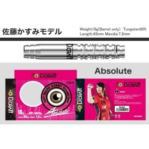 ダーツ バレル D-craft Absolute(アブソリュート)佐藤かすみ|bat-store