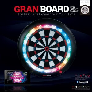 ダーツ ダーツボード GRANBOARD 3s White Edition (グランボード スリーエス) 限定ホワイトカラー bat-store