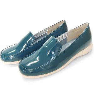 レインシューズ エナメルスリッポン ブルー バスクラフト No.12930|bath