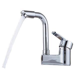 洗面用4 ツーホール式 シングルレバー 混合水栓 手洗い 蛇口 洗面台 立水栓 水道 圧力テスト済み...