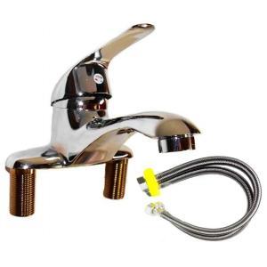洗面台用 シングルレバー 混合 水栓 蛇口 給水フレキ管 50cm 2本セット 賃貸アパマンにも最適