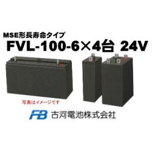 FVL-100-6×4台【古河電池】《送料無料》制御弁式据置...