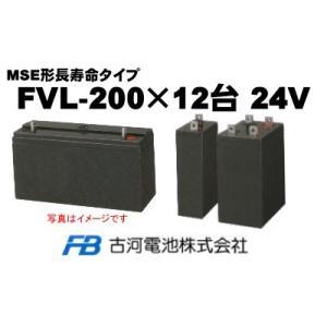 FVL-200×12台【古河電池】《送料無料》制御弁式据置鉛...