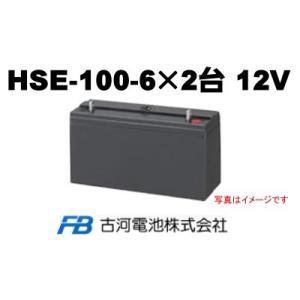 HSE100-6×2台【古河電池】《送料無料》制御弁式据置鉛...