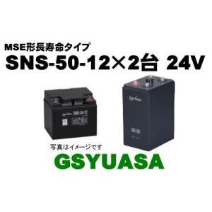 SNS-50-12×2台(SNS-50-12)【GSユアサ】《送料無料》MSE形長寿命制御弁式据置鉛...
