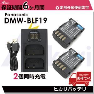 パナソニック DMW-BLF19 完全互換バッテリー2個とデュアルバッテリーUSBチャージャー DMW-BTC101個の3点セット LUMIX  DMC-GH4Hカメラ対応