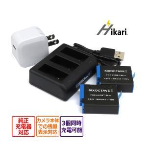 AHDBT-901 GoPro ゴープロ 互換バッテリー 2個と 互換トリプルUSB充電器 ★コンセント充電用ACアダプター付き★ 4点セット 純正品にも対応 (a2.1)|batteryginnkouhkr