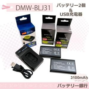 ★大容量バッテリー★Panasonic パナソニック DMW-BLJ31互換電池2個と互換USB充電器の3点セット DC-S1R  DC-S1RM  DC-S1  DC-S1M DMW-BTC14 batteryginnkouhkr