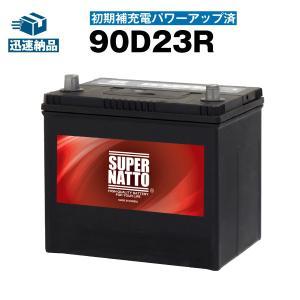 自動車用バッテリー 90D23R・初期補充電済 (65D23R 75D23R 80D23Rに互換) SUPER NATTO (スーパーナット) 長寿命・長期保証 使用済バッテリー回収付き|batterystorecom