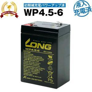 乗用玩具 WP4.5-6・初期補充電済 (産業用鉛蓄電池) 新品 LONG 長寿命・保証書付き 電動...