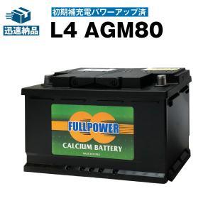 欧州車専用AGMバッテリー L4 AGM80 初期補充電済 580-901-080 LN4 BLA-...
