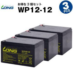 UPS(無停電電源装置) WP12-12【お得 3個セット】(産業用鉛蓄電池) 新品 LONG 長寿命・保証書付き Smart-UPS 1000 など対応 サイクルバッテリー batterystorecom