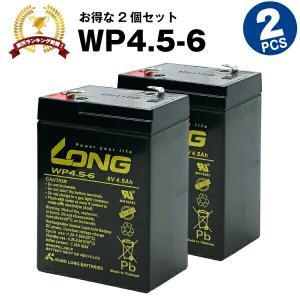 乗用玩具 WP4-6【お得 2個セット】(産業用鉛蓄電池) 新品 LONG 長寿命・保証書付き 電動ポケバイなど対応 サイクルバッテリー|batterystorecom