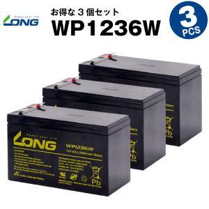 UPS(無停電電源装置) WP1236W【お得 3個セット】(産業用鉛蓄電池) 新品 LONG 長寿命・保証書付き Smart-UPS 750 など対応 サイクルバッテリー batterystorecom