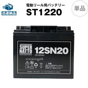 電動リール用バッテリー ST1220(12V20Ah)+棒状端子 セット スーパーナット ダイワ タ...