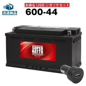 自動車用 お得な2点セット USBシガーソケット(12V/24V 対応)+スーパーナット 600-44 セット EPS100 BLA-95-L5互換 自動車 スマホ/iPhone/iPad/タブレット充電 batterystorecom