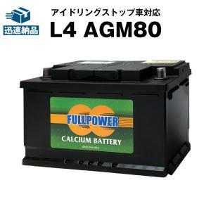 欧州車専用AGMバッテリー L4 AGM80 580-901-080 LN4 BLA-80-L4 互...
