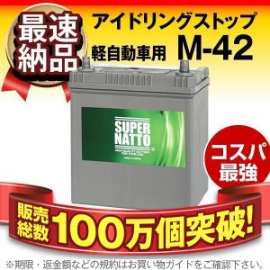 自動車用バッテリー M-42 ■55B19L 60B19L 55B20L 60B20L 互換 使用済...