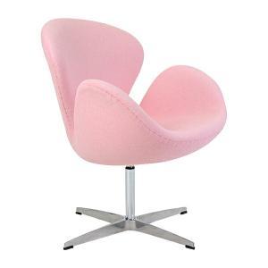 スワンチェア(Swan Chair) 北欧デザイン ファブリック LIGHTPINK ライトピンク|bauhaus1