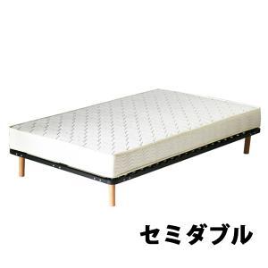 脚付きマットレス ウッドスプリングベッド セミダブルベッド セミダブル ボンネルコイル マットレス セミダブルマット すのこベッド BK|bauhaus1