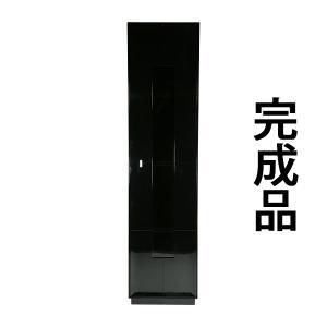 大型 1door キャビネット コレクションボード 飾り棚 完成品 ブラック bauhaus1