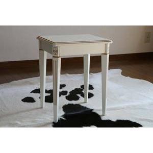 ホワイトロココ サイドテーブル 花台 F6101-M ホワイト