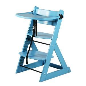 ベビーチェア テーブル付き トレイ付き キッズチェア グローアップチェア 木製 子供用椅子 ブルー bauhaus1