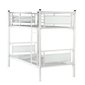 パネルベッド パイプ二段ベッド パイプ2段ベッド 二段ベッド 2段ベッド パイプベッド シングルベッド スチールベッド 052WH|bauhaus1