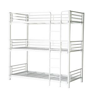三段ベッド パイプ三段ベッド パイプベッド 三段ベッド 3段ベッド パイプベッド スチールベッド 二段ベッド 142WH|bauhaus1