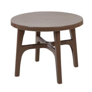 ガーデンテーブル ポリプロピレン製 PP ブラウン 軽量で持ち運び簡単 ガーデンファニチャー ガーデン テーブル アウトドア deckchairtablebr|bauhaus1