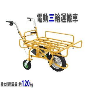 ◆電動三輪運搬車 パイプ荷台◆     ■重労働だった運搬が楽になる!  ■電動式なので走行中もとっ...