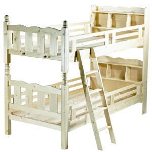 宮付き二段ベッド 二段ベッド 2段ベッド シングルベッド すのこベッド|bauhaus1