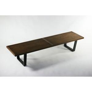 ネルソンベンチ オーク材 オーク 182.5x47.5x36.5(cm) 約180cm Lサイズ 北...