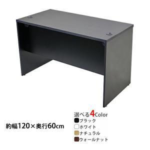 選べる4カラー ワークデスク 約W120×D60×H74 幕板 配線収納ホール オフィスデスク エグ...