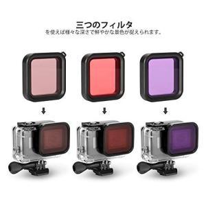 (ディヤード)Deyard レンズフィルター GoPro Hero 8 Black対応 三つタイプ ...