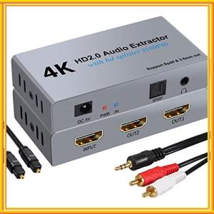 LiNKFOR HDMI 分配器 音声分離器 1入力2出力 4Kx2K@60Hz HDMI2.0 H...